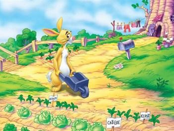 Кролик собирает урожай