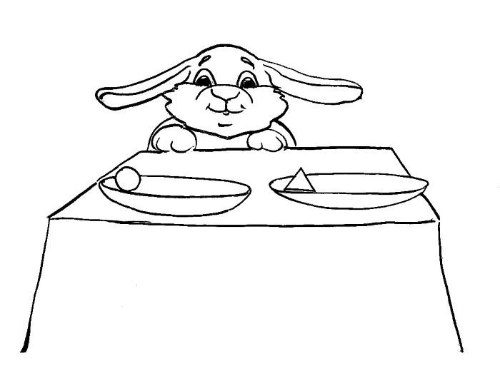 Зайка за столом