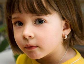 Сережки для маленькой девочки