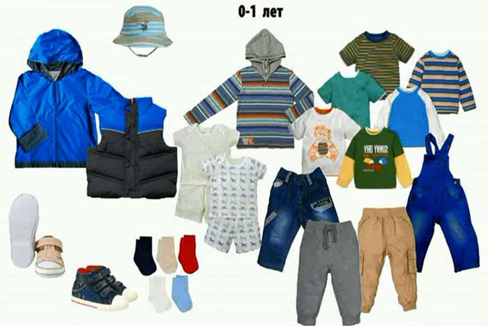Базовый гардероб ребенка до года