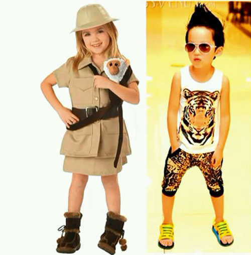 Стиль детской одежды Сафари