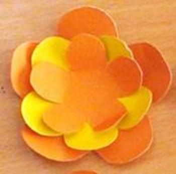 Цветок аппликация