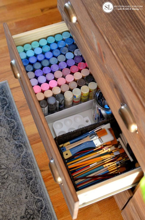 Хранение предметов в шкафу