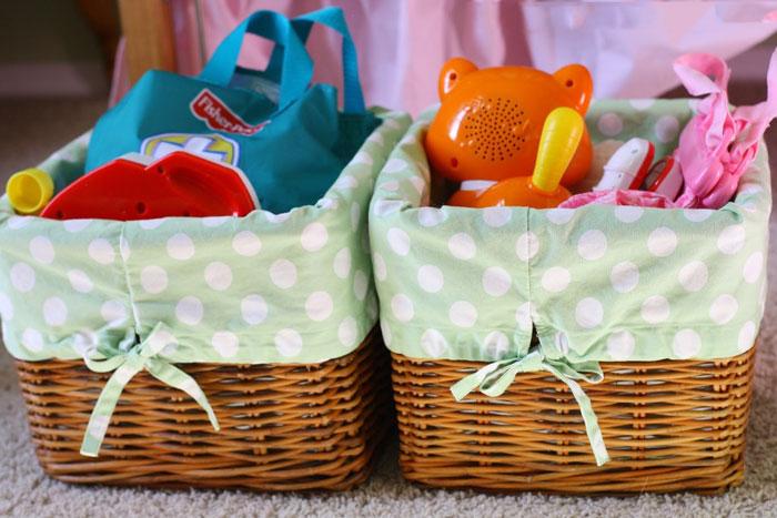 Корзины для детских игрушек