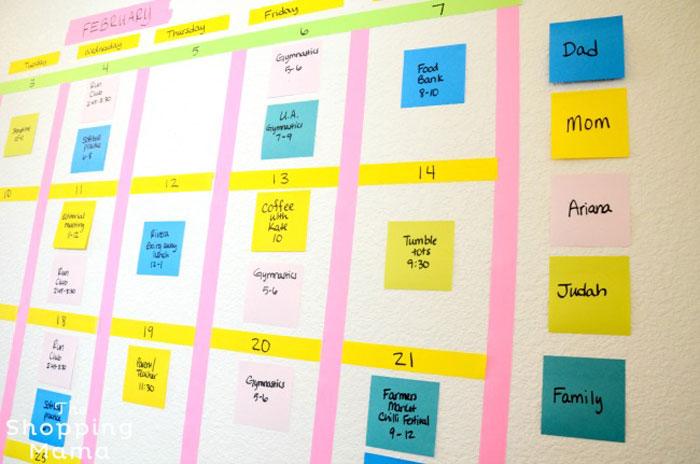 Бумажный семейный календарь