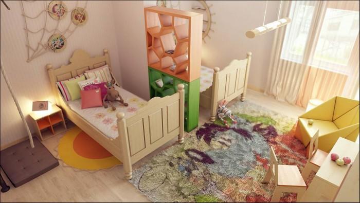 Зонирование детской комнаты