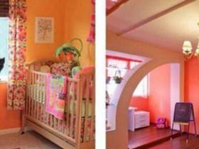 Оранжевый цвет для детской