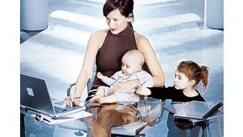 Мама работает с детьми