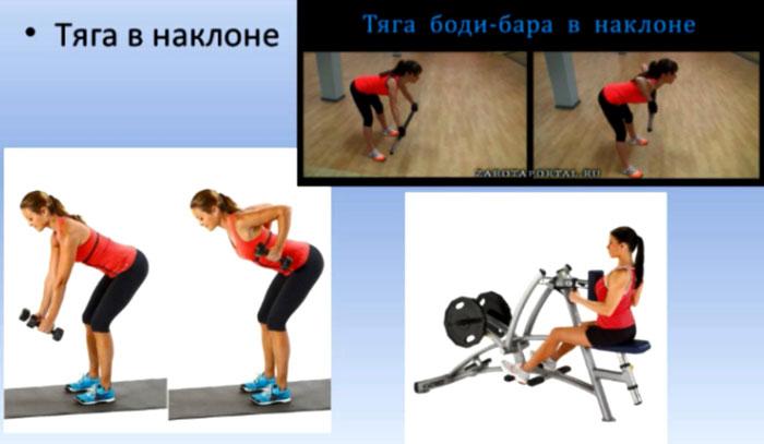 Тяга в наклоне упражнение для спины
