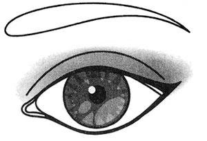 Подчеркиваем глаза