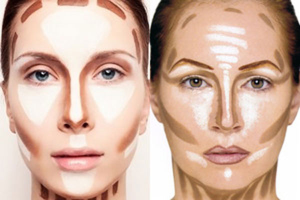 Корректировка формы носа при помощи макияжа