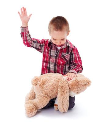 Ребенок проецирует наказание на игрушки