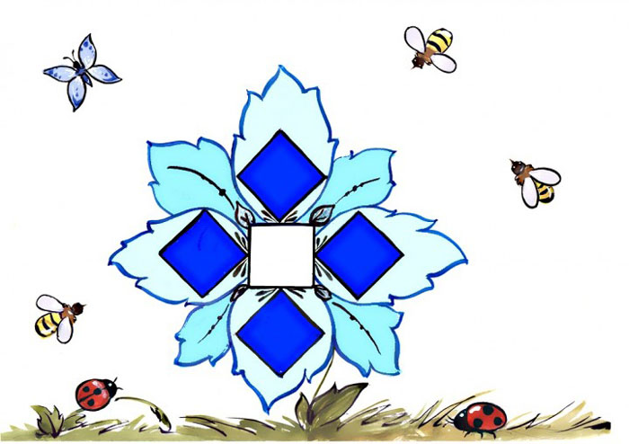 Морозный цветок