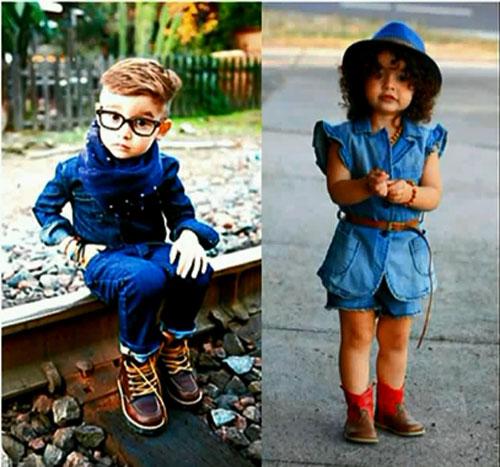 Джинсовый стиль детской одежды