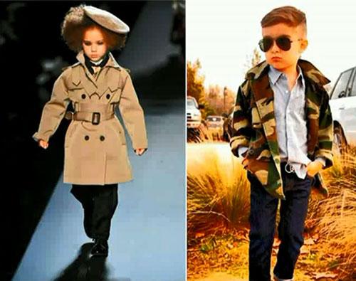 Военный стиль детской одежды