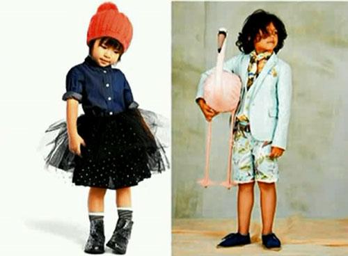 Артистический стиль детской одежды