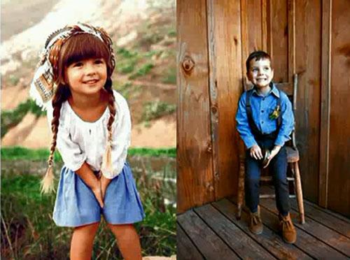 Крестьянский стиль детской одежды