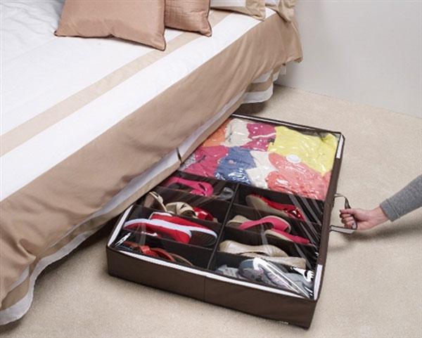 Храним обувь под кроватью