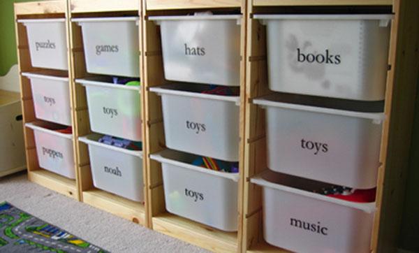 Ящики для хранения детских вещей