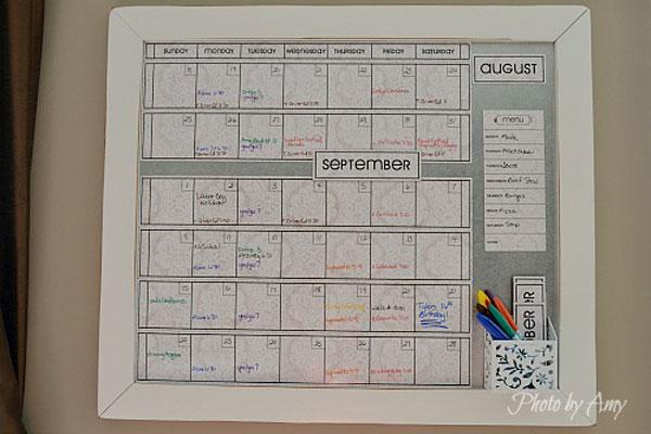 Семейный календарь на месяц
