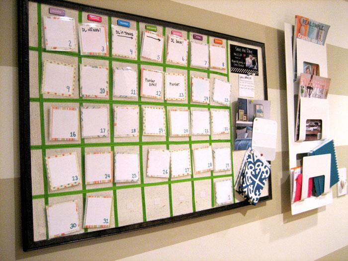 Бумажный календарь на магнитиках