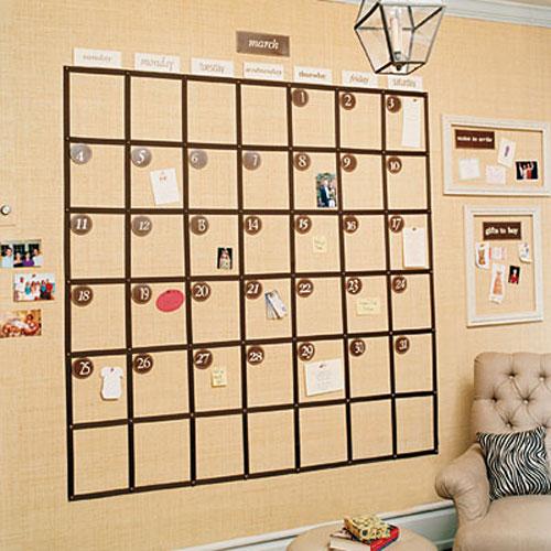 Пример семейного календаря
