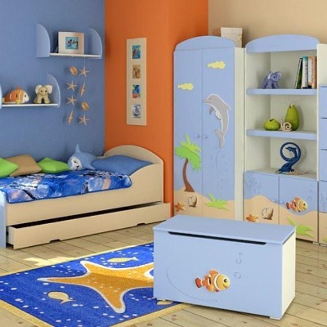 Синий цвет для детской