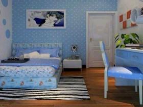 Голубой и синий цвет в детской