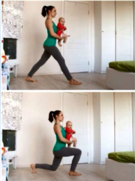 Упражнение для мамы с ребенком