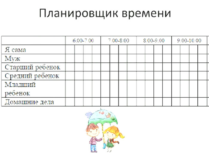 Личный планировщик времени