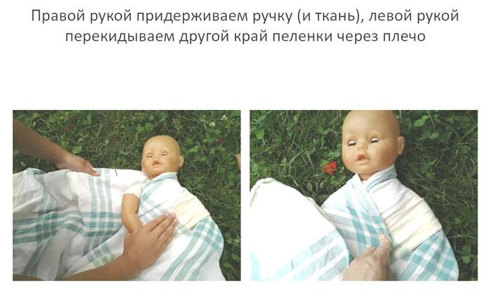 Правильное пеленание малыша