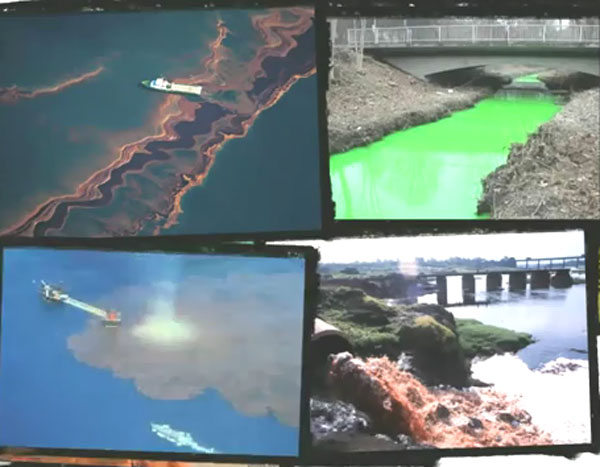 Загрязнение воды в водоемах